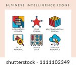business intelligence concept...   Shutterstock .eps vector #1111102349