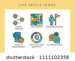 life skill concept icons for... | Shutterstock .eps vector #1111102358