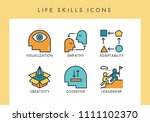 life skill concept icons for... | Shutterstock .eps vector #1111102370