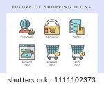 future of shopping concept... | Shutterstock .eps vector #1111102373