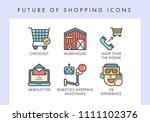 future of shopping concept... | Shutterstock .eps vector #1111102376