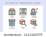future of shopping concept... | Shutterstock .eps vector #1111102379