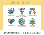 life skill concept icons for... | Shutterstock .eps vector #1111103180