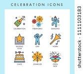 celebration icons for web  app  ... | Shutterstock .eps vector #1111103183