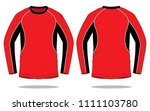 long sleeve t shirt design  ... | Shutterstock .eps vector #1111103780