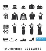 clothing store icon vector | Shutterstock .eps vector #111110558