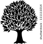tree isolated on a white... | Shutterstock .eps vector #111111014