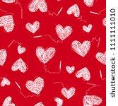heart pattern illustration. i... | Shutterstock .eps vector #1111111010