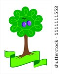 stylized plum tree logo. young  ... | Shutterstock .eps vector #1111111553