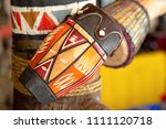 traditional handmade drums for... | Shutterstock . vector #1111120718
