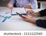 business people meeting to... | Shutterstock . vector #1111122560