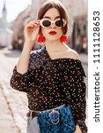 outdoor portrait of young... | Shutterstock . vector #1111128653