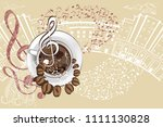 abstract musical design with a... | Shutterstock .eps vector #1111130828