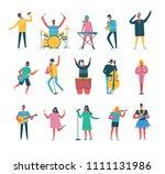 vector background in a flat... | Shutterstock .eps vector #1111131986