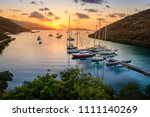 beautiful sunset scene on the... | Shutterstock . vector #1111140269