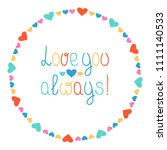 round heart frame. love you... | Shutterstock .eps vector #1111140533