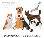 dogs by country of origin.... | Shutterstock .eps vector #1111142210