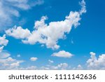 blue sky background with tiny...   Shutterstock . vector #1111142636
