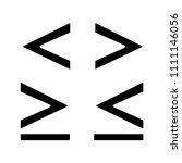 math symbols glyph icon. is... | Shutterstock .eps vector #1111146056
