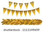 boys birthday party set. paper... | Shutterstock .eps vector #1111149659