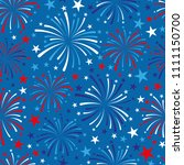 4th of july background with... | Shutterstock . vector #1111150700