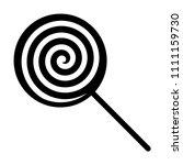 swirl lollipop sucker or lolly... | Shutterstock .eps vector #1111159730