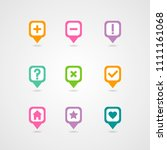 mapping pins icon. map pointer. ... | Shutterstock .eps vector #1111161068