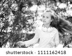 child dance to music in summer... | Shutterstock . vector #1111162418