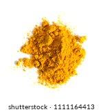 turmeric  curcuma  powder pile... | Shutterstock . vector #1111164413