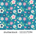 spring cute flowers seamless... | Shutterstock .eps vector #111117194