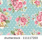 seamless pink vintage rose...   Shutterstock .eps vector #111117203