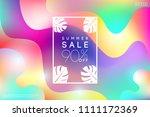 summer sale template for banner ...   Shutterstock .eps vector #1111172369