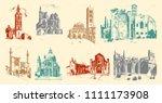 historical old building. facade ...   Shutterstock .eps vector #1111173908