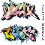 graffito text design   luck....   Shutterstock .eps vector #111117449