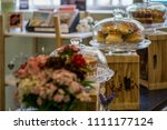 artisan food shop. local coffee ... | Shutterstock . vector #1111177124