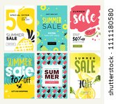 set of mobile summer sale...   Shutterstock .eps vector #1111180580