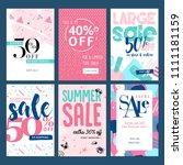 set of mobile summer sale... | Shutterstock .eps vector #1111181159