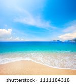 beach and beautiful tropical sea | Shutterstock . vector #1111184318