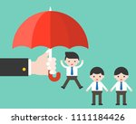 business s hand hold umbrella... | Shutterstock .eps vector #1111184426