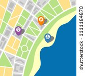 city map of an imaginary city... | Shutterstock . vector #1111184870