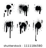 spray paint abstract vector... | Shutterstock .eps vector #1111186580