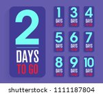 number of days left to go ... | Shutterstock .eps vector #1111187804