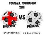 soccer game england vs panama....   Shutterstock .eps vector #1111189679