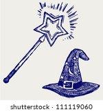 magic hat. doodle style | Shutterstock .eps vector #111119060