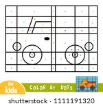 color by dots  education game... | Shutterstock .eps vector #1111191320