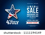 fourth of july. independence... | Shutterstock .eps vector #1111194149