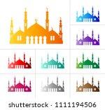 islamic arabian mosque   vector ... | Shutterstock .eps vector #1111194506