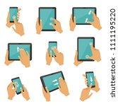 illustrations of gestures to... | Shutterstock . vector #1111195220