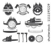 monochrome labels set with...   Shutterstock . vector #1111195229
