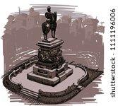 landmarks of sofia   tsar... | Shutterstock .eps vector #1111196006